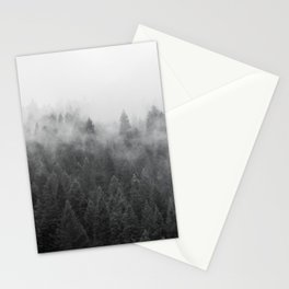Black and White Mist Ombre Stationery Cards