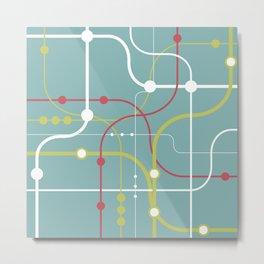 Line By Line - Bubblegum Pop-A Metal Print