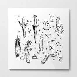 Accoutrements - white Metal Print