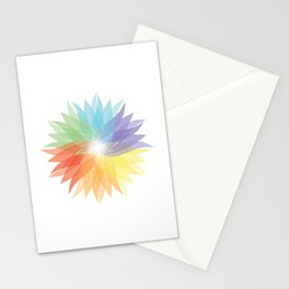 colorful lady Stationery Cards