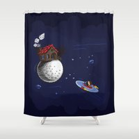 the little prince Shower Curtains featuring The little Prince by Artysmedia