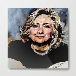 HILLARY CLINTON OFFICIAL PORTRAIT Metal Print