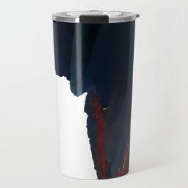 Light and Shadow Scarlet Macaw Travel Mug