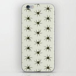 Spiders grey iPhone Skin