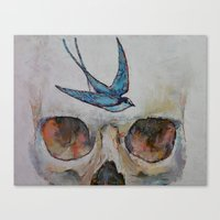 sparrow Canvas Prints featuring Sparrow by Michael Creese
