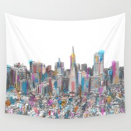 San Francisco Coit view Wall Tapestry