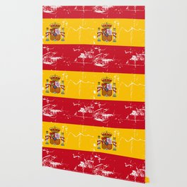 Spain flag with grunge effect Wallpaper