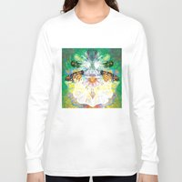 clockwork Long Sleeve T-shirts featuring Clockwork Butterfly by VivianLohArts