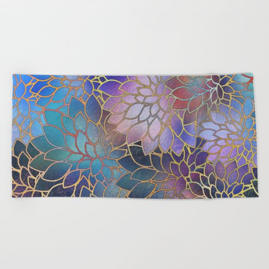Floral Abstract 5 Beach Towel