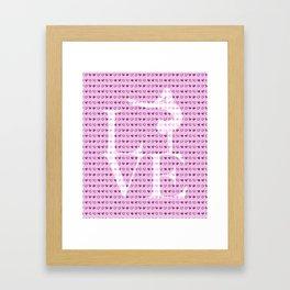 Love Gymnastics - Pink Framed Art Print