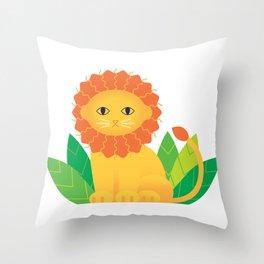 Lemon Leon Throw Pillow