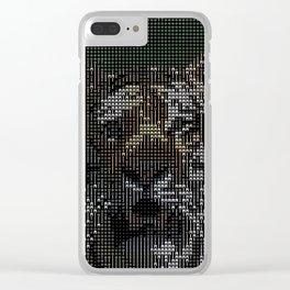 ASCII-Art Tiger Clear iPhone Case