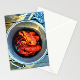 Maine Lobster Pot (1) Stationery Cards