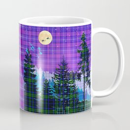 Moonlit Plaid Forest Coffee Mug