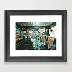 The Record Store Framed Art Print