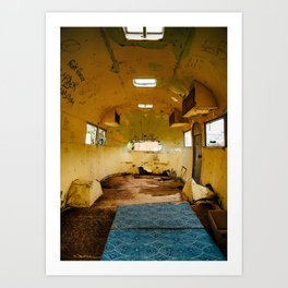 Abandoned airstream Art Print