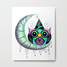 Sir Party Hooty - New Years Owl Metal Print