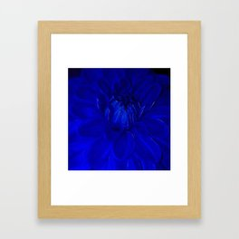Royal Blue Fractal dahlia Framed Art Print