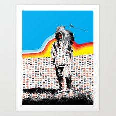 Standing Chief Art Print