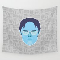 dwight Wall Tapestries featuring Dwight Schrute - The Office by Kuki