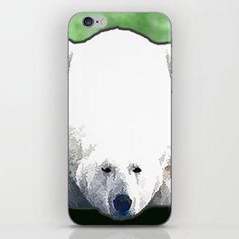 Polar Bear - Green iPhone Skin