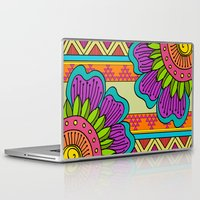 hippy Laptop & iPad Skins featuring Hippy tribal by Pooja Jeshang
