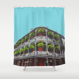 Hanging Baskets Of Royal Street New Orleans Shower Curtain