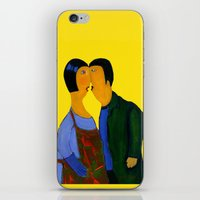 couple iPhone & iPod Skins featuring couple by agnes Trachet