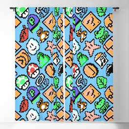 Super Mario Bros. 3 | blue sky | items pattern Blackout Curtain