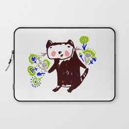 A little otter with flowers Laptop Sleeve