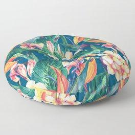 Tropical Bird Of Paradise Flowers Floor Pillow