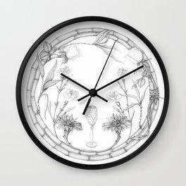 Flower wreath Wall Clock