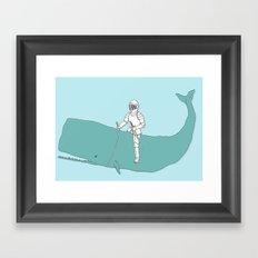 Save the whale Framed Art Print