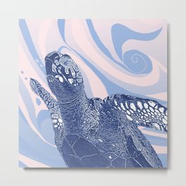 Unique Turtle Design Metal Print
