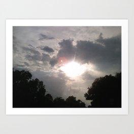 Peekaboo Sun Art Print