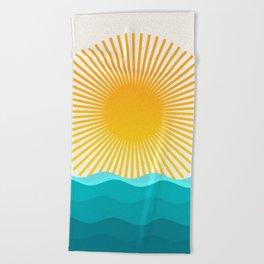 Sun and Sea Beach Towel