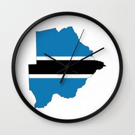 Botswana Flag Wall Clocks | Society6