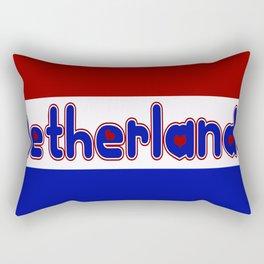 Netherlands Flag with Dutch Font Rectangular Pillow