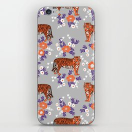 Tigers orange and purple clemson football varsity university college sports fan gifts iPhone Skin