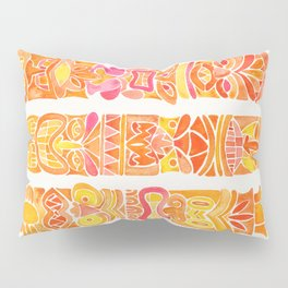 Tiki Totems – Orange Ombré Pillow Sham