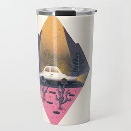 Under a blinding beam of light Travel Mug