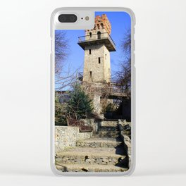 Ancient watchtower. Clear iPhone Case
