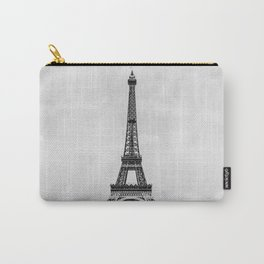 Eiffel tower, Paris France in black and white with painterly effect Carry-All Pouch
