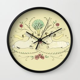 Spring Folk Art Wall Clock