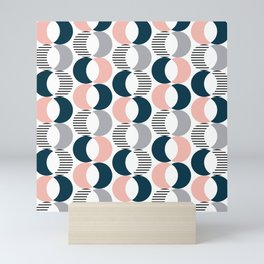 Colorful circles pattern Mini Art Print