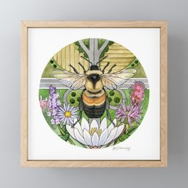 On the Brink: Rusty Patched Bumblebee Framed Mini Art Print