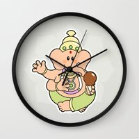 ganesha Wall Clocks featuring Ganesha by Andrés Diplotti