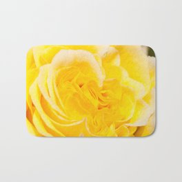 A Touch of Yellow #Rose #1 #art #society6 Bath Mat