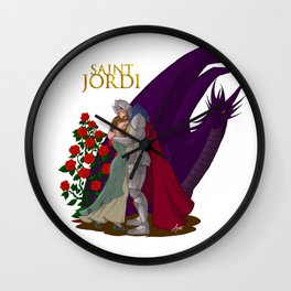 The leyend of Saint Jordi Wall Clock