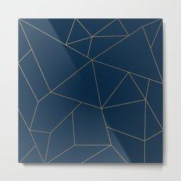 Golden Crystal Web Pattern Metal Print